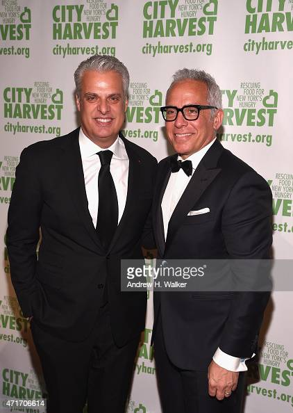 Eric Ripert and Geoffrey Zakarian attend City Harvest's 21st Annual Gala An Evening Of Practical Magic at Cipriani 42nd Street on April 30 2015 in...