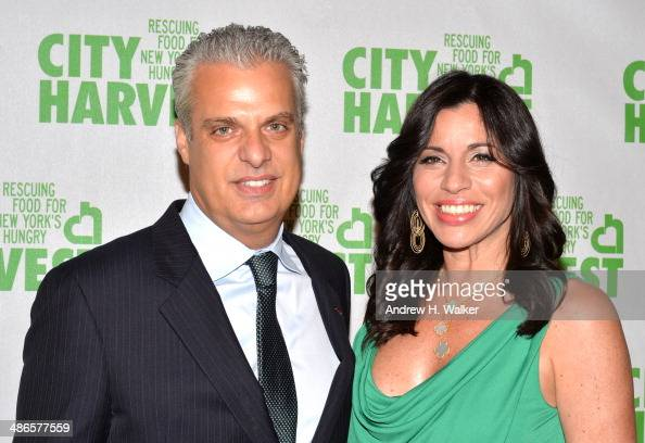 Eric Ripert and Sandra Ripert attend City Harvest An Event Of Practical Magic on April 24 2014 in New York City