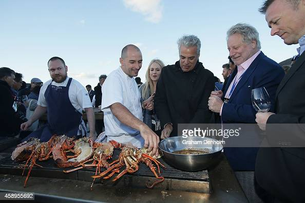 Eric Ripert from the USA enjoys the local produce showcased at the first chapter of Invite The World To Dinner Gala event at GASP on November 14 2014...