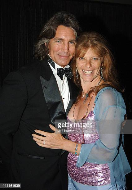 Eric Roberts and wife Eliza Roberts during 25th Anniversary Gala for PETA and Humanitarian Awards Backstage and Audience at Paramount Studios in...