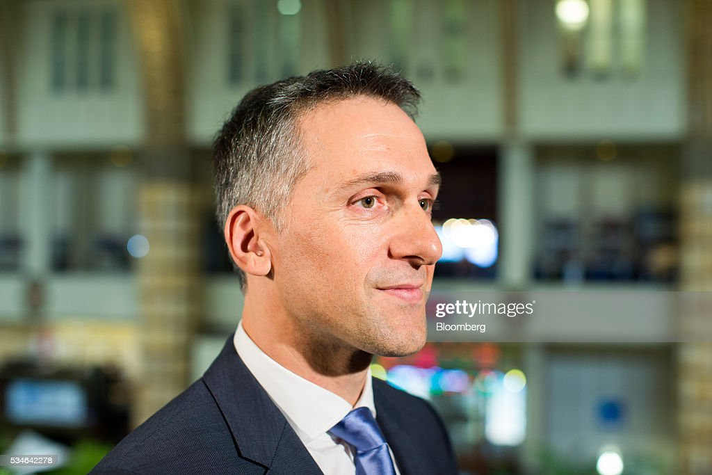 Eric Rondolat, chief executive officer of Philips Lighting NV, speaks during an interview after the Philips Lightning NV debut at Amsterdam Stock Exchange (AEX), operated by Euronext NV, in Amsterdam, Netherlands, on Friday, May 27, 2016. Philips Lighting NV shares jumped in their trading debut after Dutch parent company Royal Philips NV raised 750 million euros ($839 million) in an initial public offering of the worlds biggest general luminaries business. Photographer: Jasper Juinen/Bloomberg via Getty Images