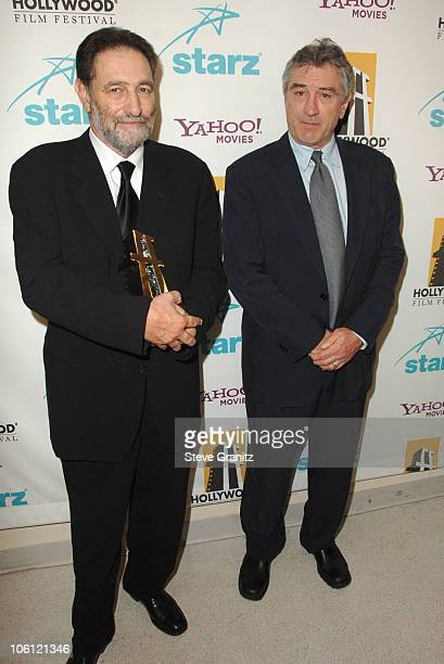Eric Roth and Robert De Niro during Hollywood Film Festival 10th Annual Hollywood Awards Press Room at The Beverly Hilton Hotel in Beverly Hills...