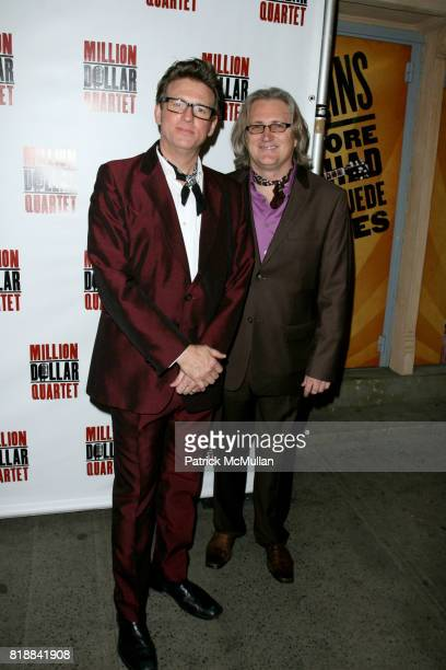 Eric Schaeffer and Chuck Mead attend Opening Night of 'MILLION DOLLAR QUARTET' at Nederlander Thearte on April 11 2010 in New York City