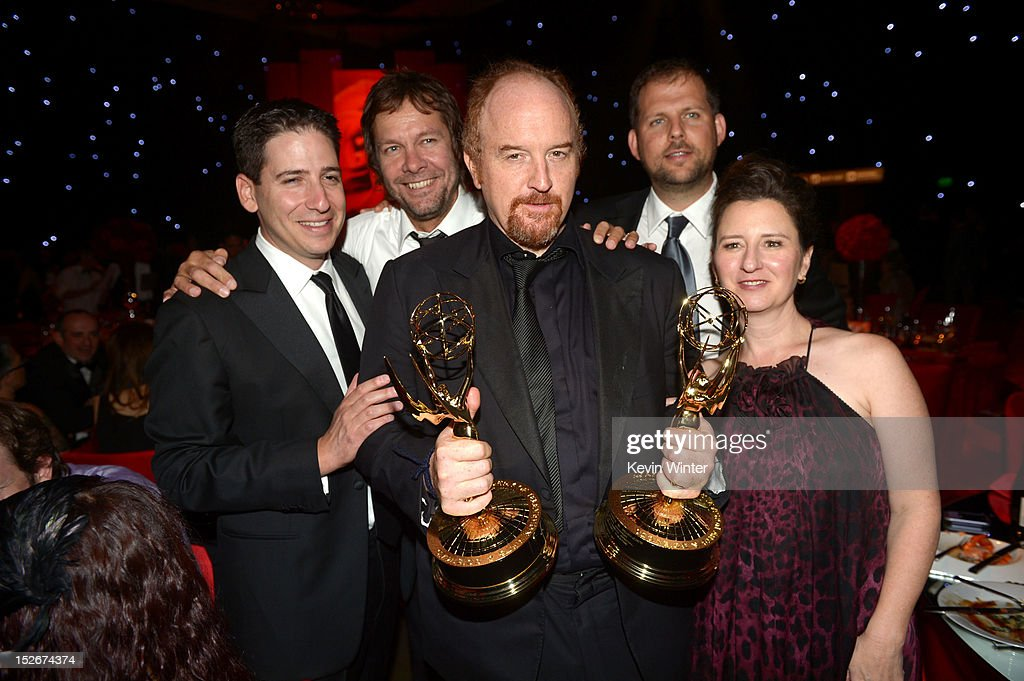 Eric Schier, Executive Vice President, FX Productions, Dave Becky, Executive Producer, 'Louie', comedian Louis C.K., Nick Grad, Executive Vice President, Original Programming, FX Network and Blair Breard, Executive Producer, 'Louie' attend the 64th Annual Primetime Emmy Awards Governors Ball at Nokia Theatre L.A. Live on September 23, 2012 in Los Angeles, California.
