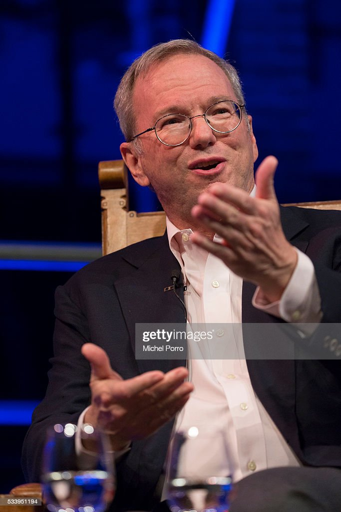 <a gi-track='captionPersonalityLinkClicked' href=/galleries/search?phrase=Eric+Schmidt&family=editorial&specificpeople=5515021 ng-click='$event.stopPropagation()'>Eric Schmidt</a>, CEO of Alphabet, parent company of Google, attends the kick-off of Startup Fest Europe on May 24, 2016 in Amsterdam, The Netherlands. The event facilitates match-making between investors and startup entrepreneurs from all over the world.