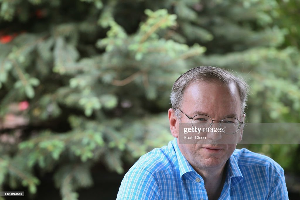 Eric Schmidt, CEO of Google, attends the Allen & Company Sun Valley Conference on July 7, 2011 in Sun Valley, Idaho. The conference has been hosted annually by the investment firm Allen & Company each July since 1983. The conference is typically attended by many of the world's most powerful media executives.