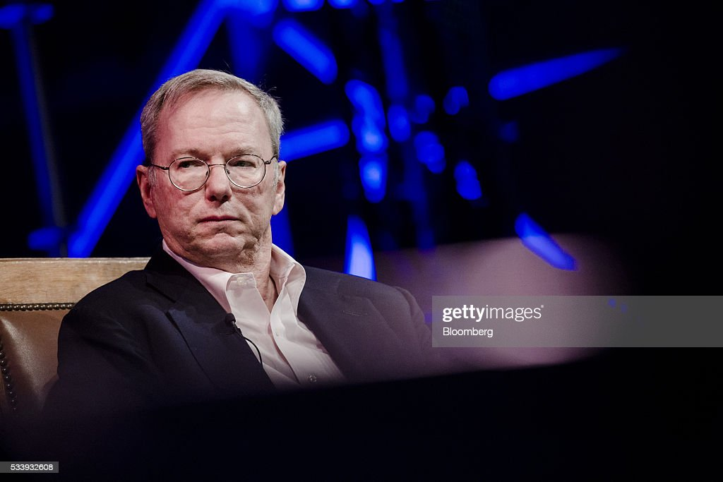 <a gi-track='captionPersonalityLinkClicked' href=/galleries/search?phrase=Eric+Schmidt&family=editorial&specificpeople=5515021 ng-click='$event.stopPropagation()'>Eric Schmidt</a>, chairman of Alphabet Inc., pauses during the opening of 'Startup Fest', a five-day conference to showcase Dutch innovation, in Amsterdam, Netherlands, on Tuesday, May 24, 2016. The Digital City Index for 2015 ranked Amsterdam Europe's second-best city, behind London, for tech startups. Photographer: Marlene Awaad/Bloomberg via Getty Images