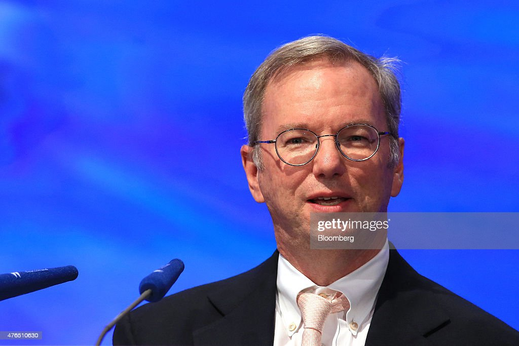<a gi-track='captionPersonalityLinkClicked' href=/galleries/search?phrase=Eric+Schmidt&family=editorial&specificpeople=5515021 ng-click='$event.stopPropagation()'>Eric Schmidt</a>, chairman of Google Inc., speaks during the Wirtschaftsrat conference in Berlin, Germany, on Tuesday, June 9, 2015. European integration must be furthered to boost global stability, German Finance Minister Wolfgang Schaeuble said today in Berlin. Photographer: Krisztian Bocsi/Bloomberg via Getty Images