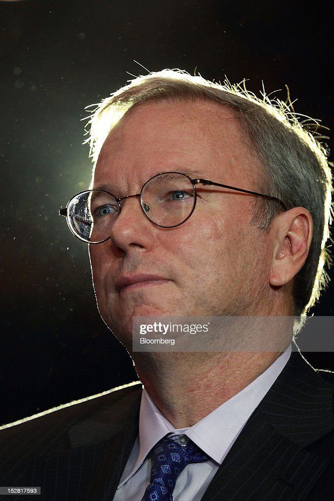 <a gi-track='captionPersonalityLinkClicked' href=/galleries/search?phrase=Eric+Schmidt&family=editorial&specificpeople=5515021 ng-click='$event.stopPropagation()'>Eric Schmidt</a>, executive chairman of Google Inc., attends a news conference in Seoul, South Korea, on Thursday, Sept. 27, 2012. Google Inc. will start selling its Nexus 7 tablet in South Korea on Oct. 7 to meet demand for mobile devices on the home turf of Samsung Electronics Co., the world's biggest seller of smartphones. Photographer: SeongJoon Cho/Bloomberg via Getty Images