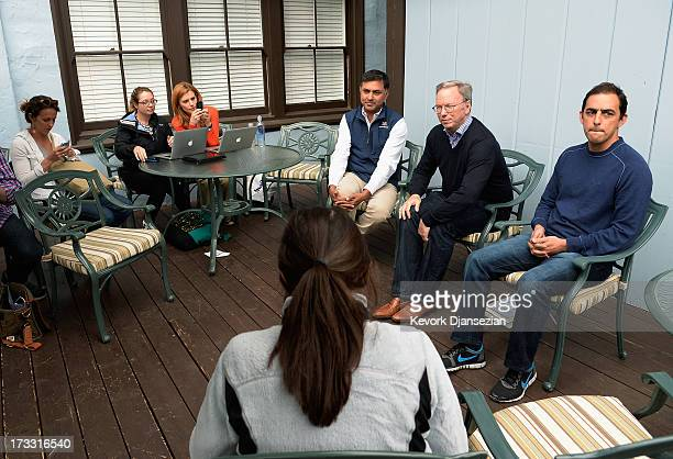 Eric Schmidt executive chairman of Google Nikesh Arora Google chief business officer and Salar Kamangar CEO of YouTube and Senior Vice President of...