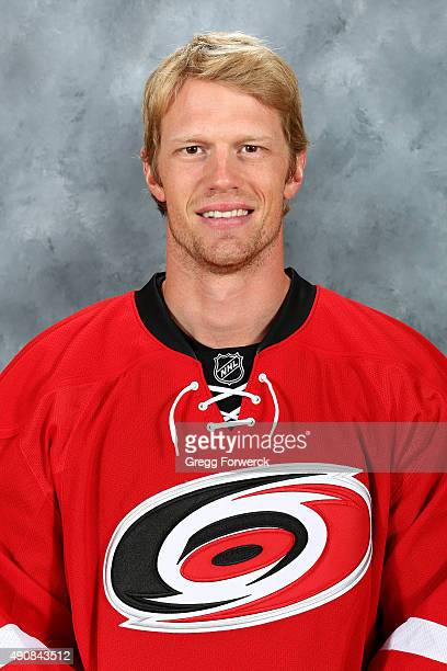 Eric Staal of the Carolina Hurricanes poses for his official headshot for the 20152016 season on September 17 2015 at Carolina Family Practice in...