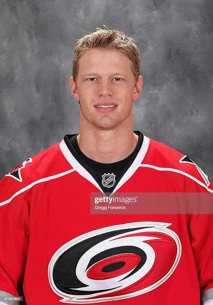 Eric Staal of the Carolina Hurricanes poses for his official headshot for the 20092010 NHL season