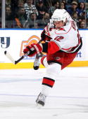 Eric Staal of the Carolina Hurricanes skates against the New York Islanders on February 6 2010 at Nassau Coliseum in Uniondale New York