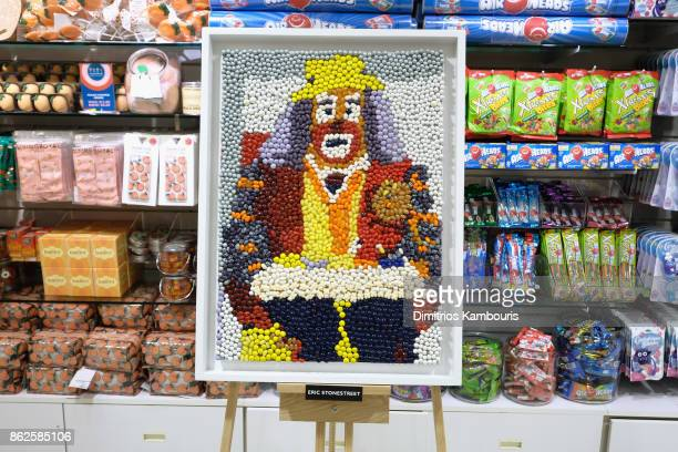 Eric Stonestreet's artwork on display as Dylan Lauren celebrates the Sweet 16 of Dylan's Candy Bar on October 17 2017 in New York City