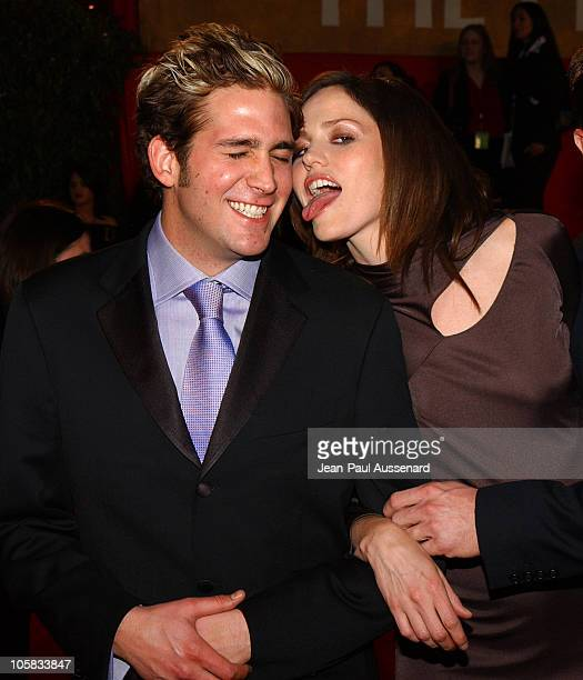 Eric Szmanda and Jorja Fox during The 30th Annual People's Choice Awards Arrivals at Pasadena Civic Auditorium in Pasadena California United States