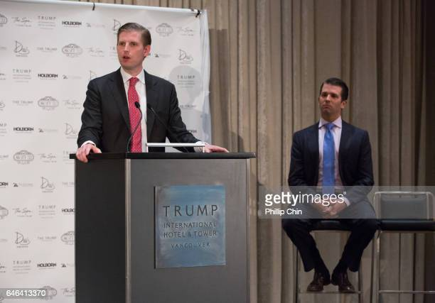 Eric Trump and Don Trump Jr Executive Vice Presidents of Development and Acquisition and Development for the Trump Organization attend the Trump...