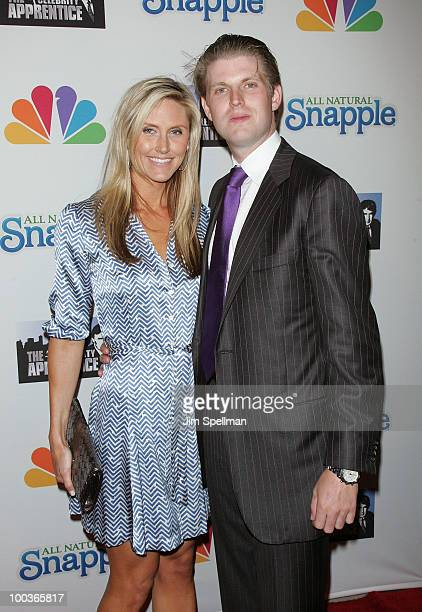 Eric Trump and girlfriend Lara Yunaska attend 'The Celebrity Apprentice' Season 3 finale after party at the Trump SoHo on May 23 2010 in New York City