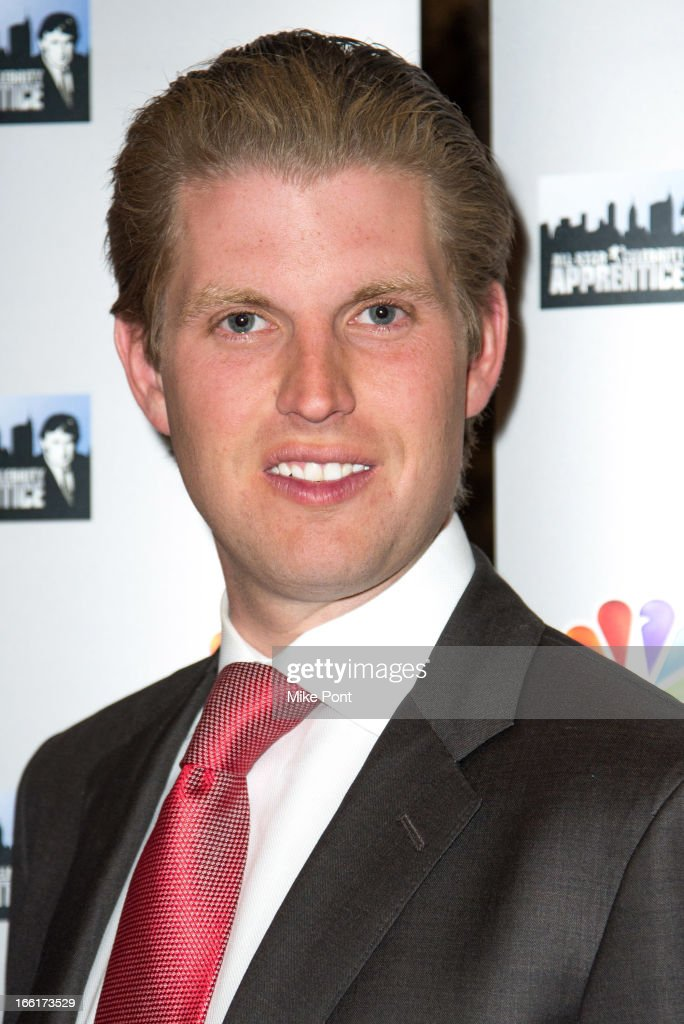 <a gi-track='captionPersonalityLinkClicked' href=/galleries/search?phrase=Eric+Trump&family=editorial&specificpeople=1283906 ng-click='$event.stopPropagation()'>Eric Trump</a> attends 'Celebrity Apprentice All-Star Event With Donald and Melania Trump' at Trump Tower on April 9, 2013 in New York City.
