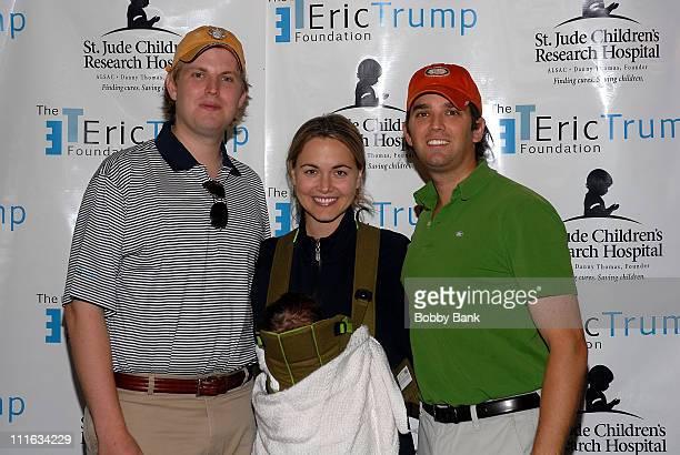 Eric Trump Donald Trump JrVanessa Trump and Kai Madison Trump at The Eric Trump Foundation Golf Invitational at Trump National Golf Club September 18...