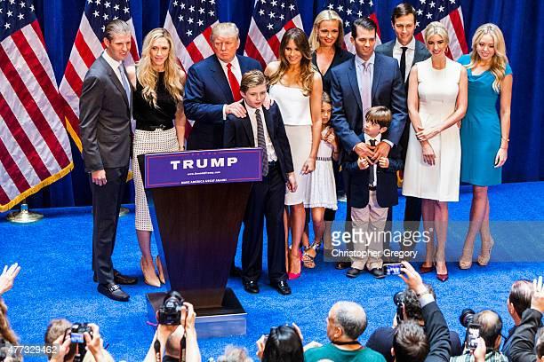 Eric Trump Lara Yunaska Trump Donald Trump Barron Trump Melania Trump Vanessa Haydon Trump Kai Madison Trump Donald Trump Jr Donald John Trump III...