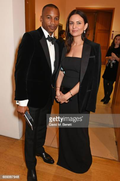 Eric Underwood and Gabriele Hackworthy attend the Portrait Gala 2017 sponsored by William Son at the National Portrait Gallery on March 28 2017 in...