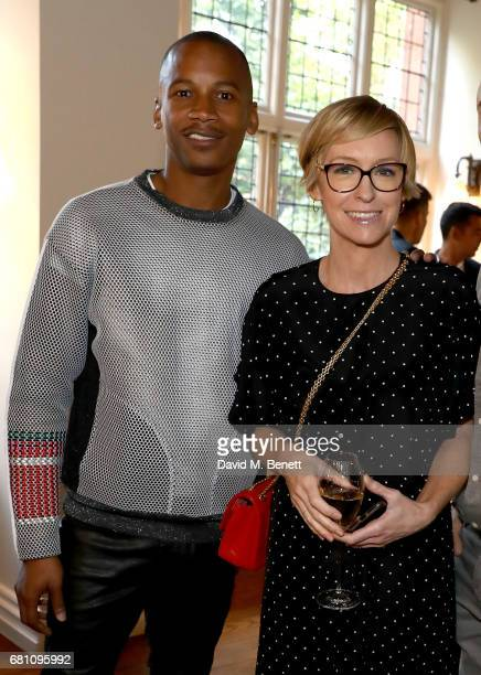 Eric Underwood and Jo Elvin attend the FRAME X Ben Gorham menswear launch on May 9 2017 in London England
