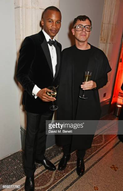 Eric Underwood and Raimund Berthold attend the Portrait Gala 2017 sponsored by William Son at the National Portrait Gallery on March 28 2017 in...