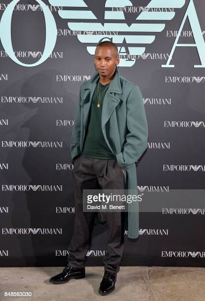 Eric Underwood attends the Emporio Armani Party on September 17 2017 in London England