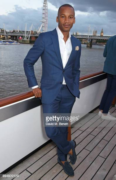 Eric Underwood attends the Henley Royal Regatta and their official partner Hackett London launch event during LFWM aboard The Silver Sturgeon on June...