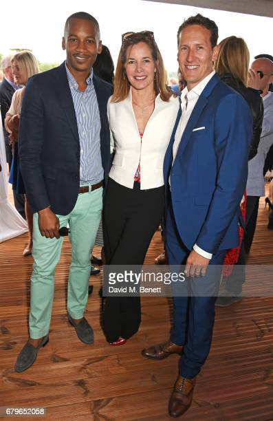 Eric Underwood Darcey Bussell and Brendan Cole attend the Audi Polo Challenge at Coworth Park on May 6 2017 in Ascot United Kingdom