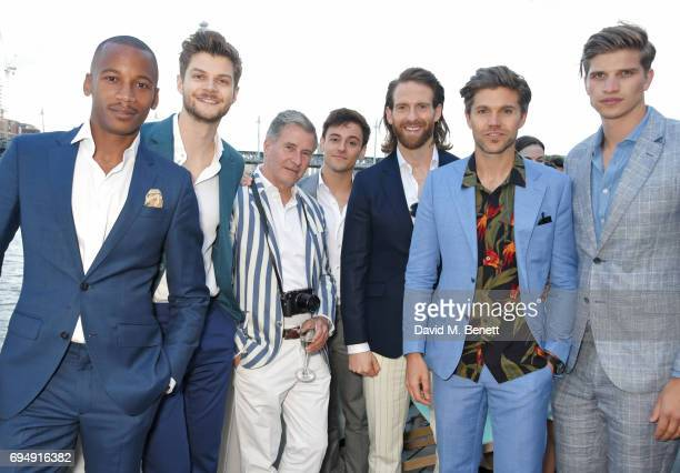 Eric Underwood Jim Chapman Jeremy Hackett Tom Daley Craig McGinlay Darren Kennedy and Toby HuntingtonWhiteley attend the Henley Royal Regatta and...