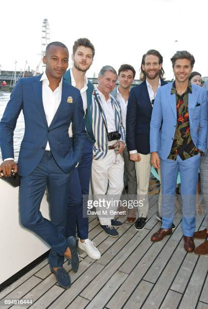 Eric Underwood Jim Chapman Jeremy Hackett Tom Daley Craig McGinlay and Darren Kennedy attend the Henley Royal Regatta and their official partner...