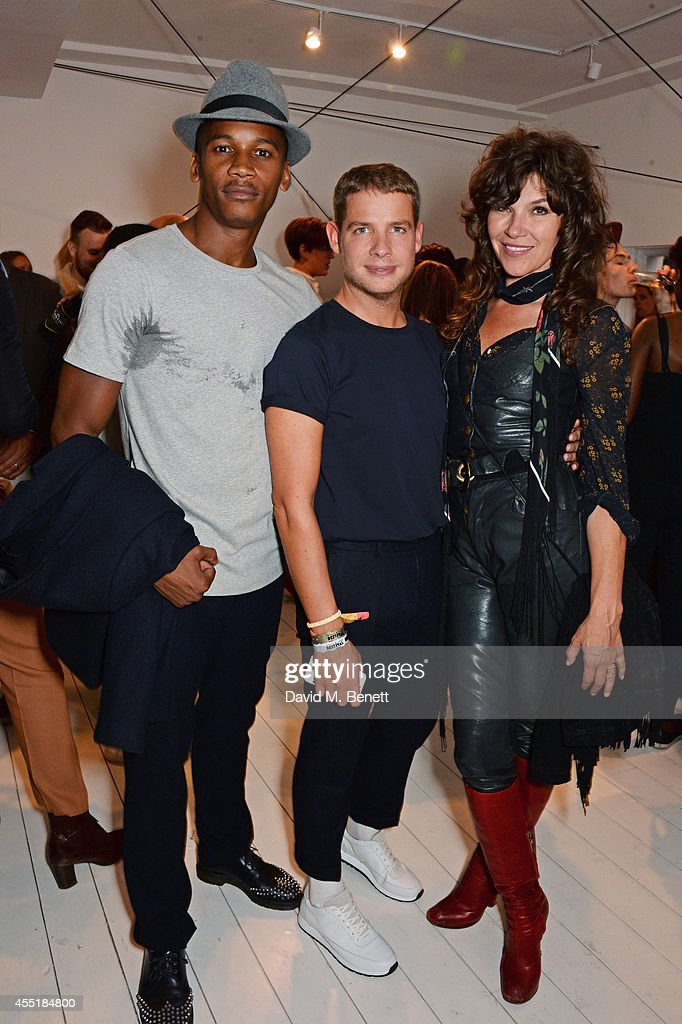 Eric Underwood Luke Day Fashion Director at British GQ Style and Jess Morris attend the Whistles x GQ Style House Party on September 10 2014 in...