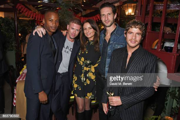 Eric Underwood Michael Hennegan Gabriele Hackworthy Jonathan Heaf and Luke Day attend the CDLP Crayfish Party at Mark's Club on September 25 2017 in...