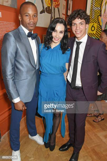 Eric Underwood Tamara Rojo and Isaac Hernandez attend the Royal Academy Of Arts Summer Exhibition preview party at Royal Academy of Arts on June 7...
