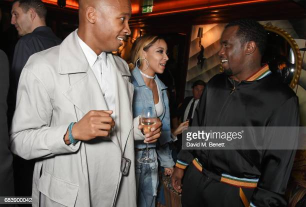 Eric Underwood Tinashe and Sean 'Diddy' Combs attend the 'Can't Stop Won't Stop A Bad Boy Story' dinner hosted by Sean 'Diddy' Combs Naomi Campbell...