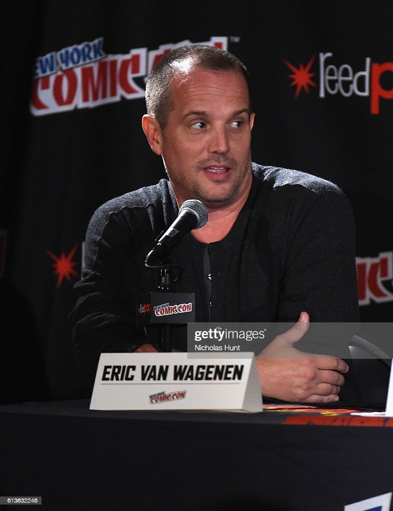 Eric Van Wagenen speaks onstage at Lucha Underground Panel at Javits center during 2016 New York Comic Con on October 9, 2016 in New York City.