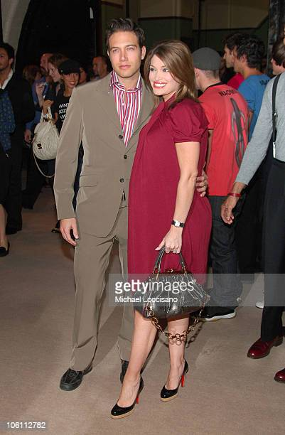 Eric Villency and Wife Kimberly Guilfoyle during Olympus Fashion Week Spring 2007 Marc Jacobs Arrivals at New York State Armory in New York City New...