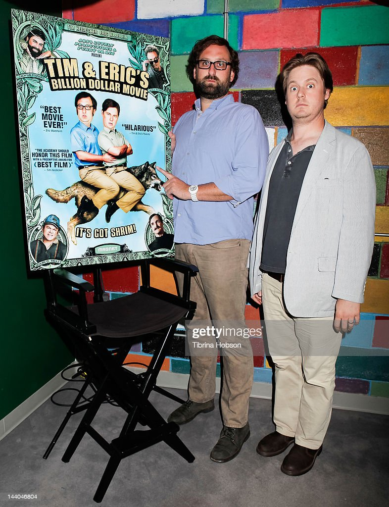 Eric Wareheim and Tim Heidecker attend 'Tim and Eric's Billion Dollar Movie' blu-ray disc and DVD release party at Amoeba Music on May 8, 2012 in Hollywood, California.