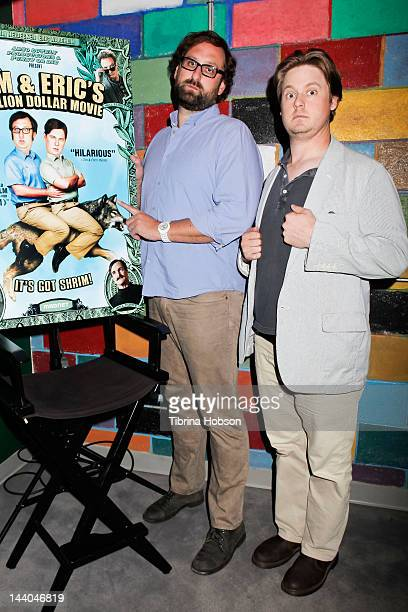 Eric Wareheim and Tim Heidecker attend 'Tim and Eric's Billion Dollar Movie' bluray disc and DVD release party at Amoeba Music on May 8 2012 in...