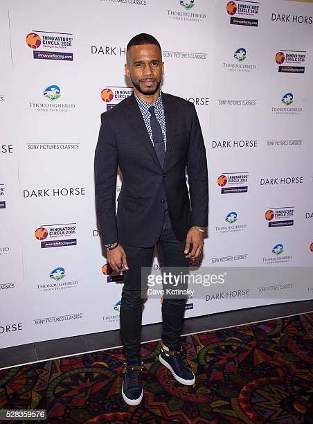 Eric West arrives at the 'Dark Horse' New York Premiere at Regal Cinemas Union Square on May 4 2016 in New York City
