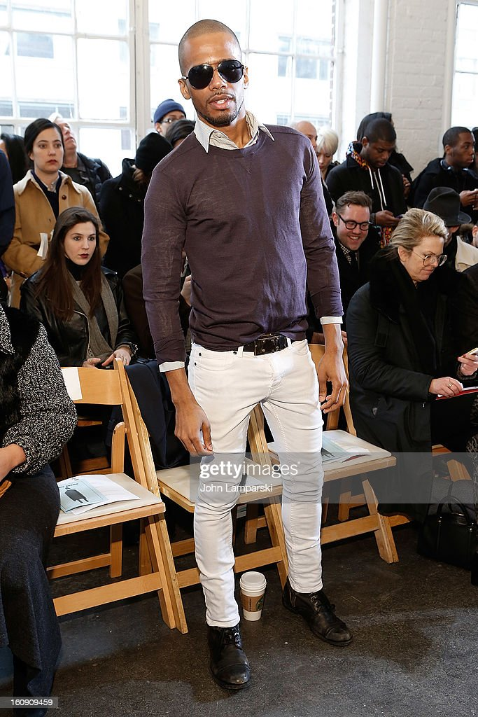 Eric West attends Duckie Brown during Fall 2013 Mercedes-Benz Fashion Week at Industria Superstudio on February 7, 2013 in New York City.