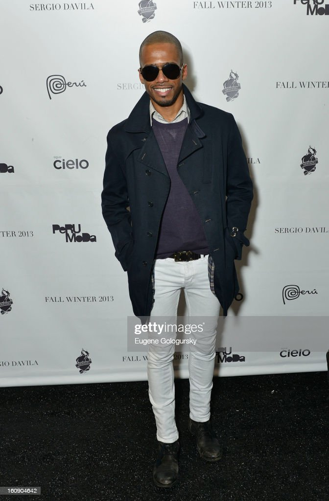 Eric West attends Sergio Davila during Fall 2013 Mercedes-Benz Fashion Week at The Studio at Lincoln Center on February 7, 2013 in New York City.