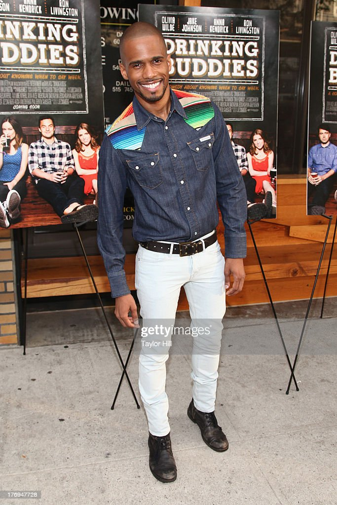 Eric West attends the 'Drinking Buddies' screening at Nitehawk Cinema on August 19, 2013 in the Brooklyn borough of New York City.