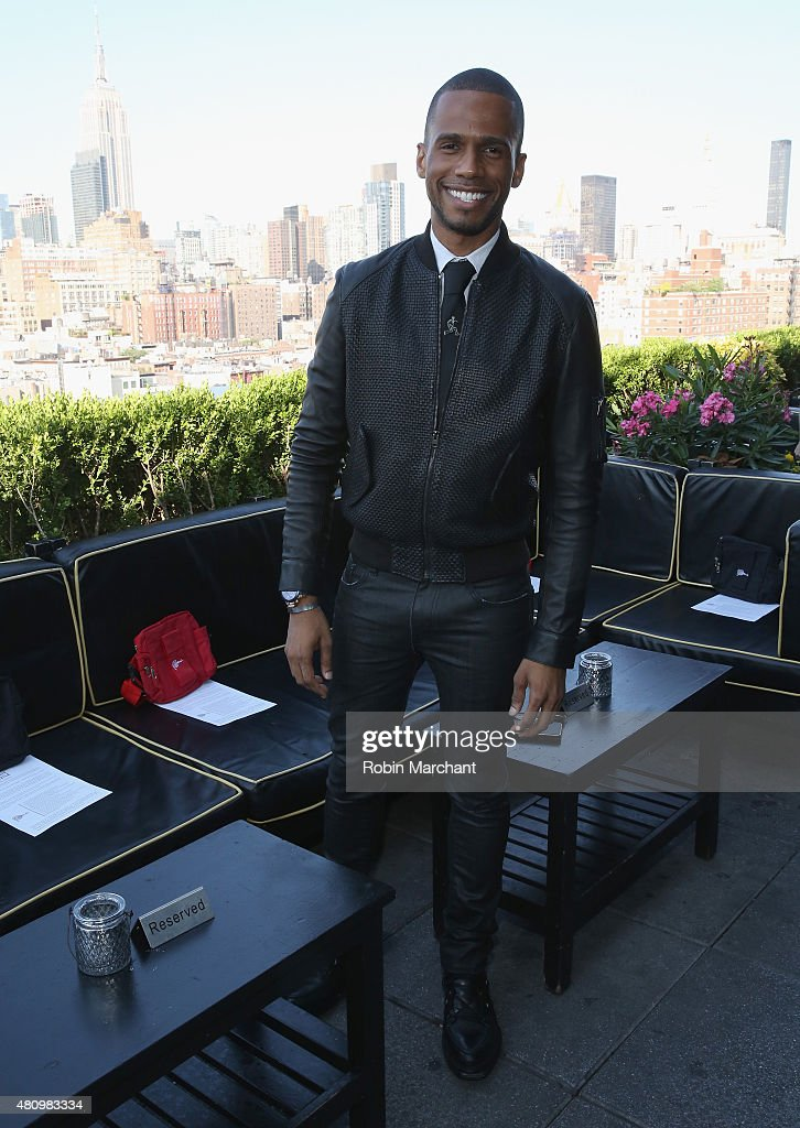 Eric West attends the Sergio Davila show during New York Fashion Week: Men's S/S 2016 at PHD at the Dream Downtown on July 16, 2015 in New York City.