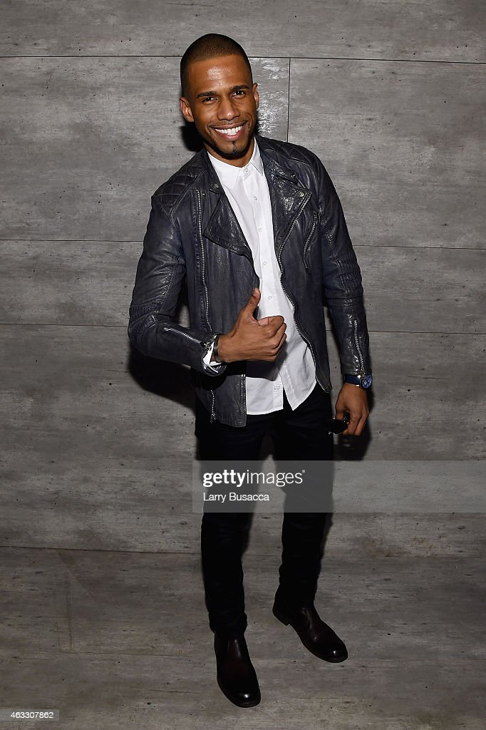 Eric West attends the Todd Snyder fashion show during Mercedes-Benz Fashion Week Fall 2015 at The Pavilion at Lincoln Center on February 12, 2015 in New York City.