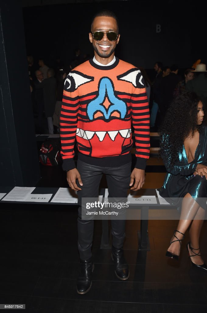 Eric West attends Vivienne Tam fashion show during New York Fashion Week: The Shows at Gallery 1, Skylight Clarkson Sq on September 10, 2017 in New York City.
