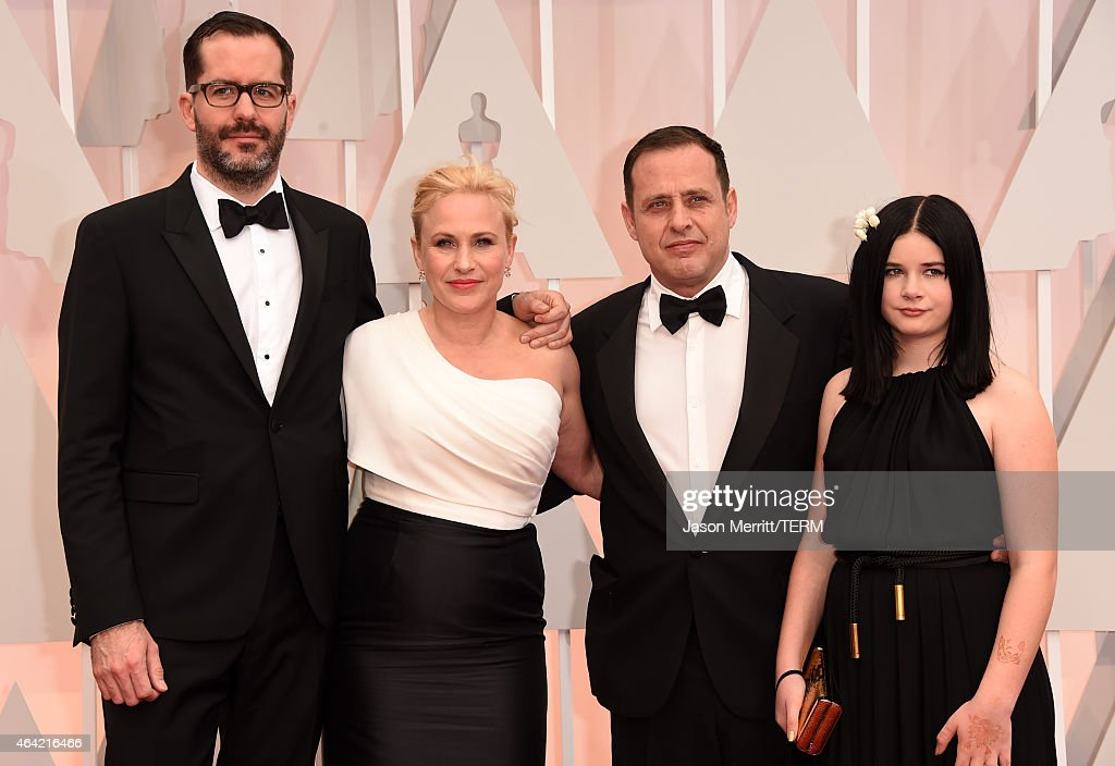 Eric White, Actress Patricia Arquette, Richmond Arquette and Harlow Olivia Calliope attends the 87th Annual Academy Awards at Hollywood & Highland Center on February 22, 2015 in Hollywood, California.