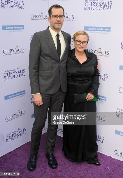 Eric White and Patricia Arquette arrive at the 16th Annual Chrysalis Butterfly Ball at a private residence on June 3 2017 in Brentwood California