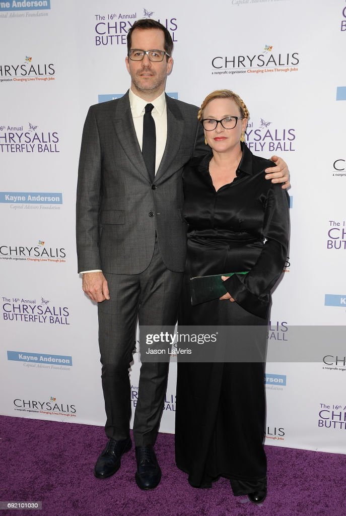 Eric White and Patricia Arquette attend the 16th annual Chrysalis Butterfly Ball on June 3, 2017 in Brentwood, California.